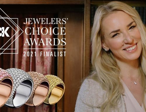 Nederlandse juwelenontwerpster Alice Sunderland in de prijzen op prestigieuze internationale JCK Jewelers' Choice Awards.